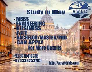 Study in Italy with Aus Wold Educational Consultants :