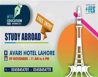 Get ready as we are coming to your city on th November  at Avari Hotel Lahore with the event of the year FES Education Fair October . This ev