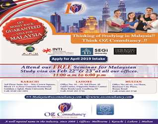ATTEND OUR FREE SEMINAR TO GET MONEY BACK GUARANTEE ON MALAYSIA STUDY VISA!