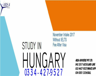 November-December-2017 Session start in Hungary-Europe without Ielts