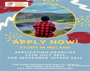 Study in IRELAND   !!! Apply Now!!!