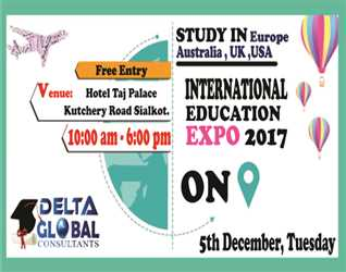 !!INTERNATIONAL EDUCATION EXPO 2017 ON 5th DECEMBER 2017!