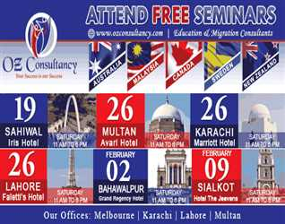 Attend Free Seminar for Australia- Malaysia-Canada-Sweeden-New Zealand