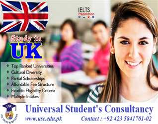 Study in UK (Partial Scholarships are available)