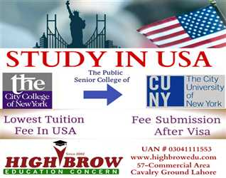 Looking for quality education? Decide your future today.... Study in USA/ Minimum Education Intermediate/Low Tuition Fee/ Call Now 0304 1111 553