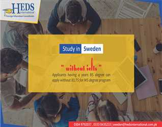 STUDY IN SWEDEN   APPLY WITH & WITHOUT IELTS
