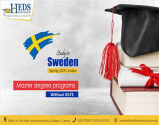 STUDY IN SWEDEN | APPLY FOR MASTER DEGREE PROGRAM WITHOUT IELTS