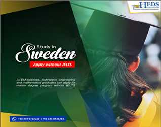 Study in Sweden - Apply Master degree programs without IELTS