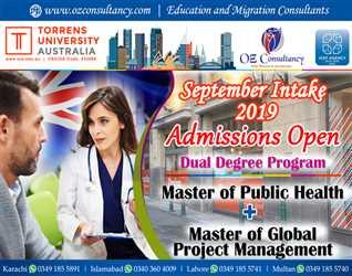 Admissions Open for September Intake - Torrens University Australia