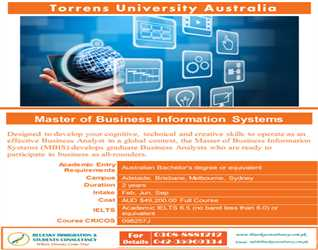 Study in Torrens University - Australia MBIS - Master of Business Information System