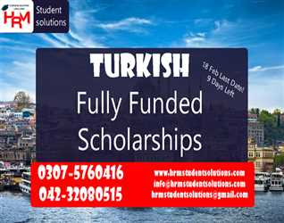 Fully Funded Scholarships In TURKEY for BS / MS / PhD through HRM student solutions