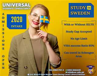 Study in Sweden with or without IELTS. High visa success ratio.