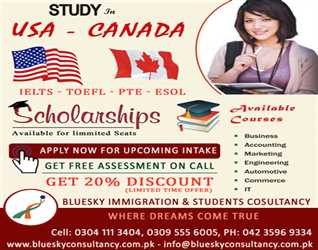 Study in Canada & USA - Scholarships - Discounts - Apply now for Upcoming Intake