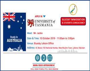 Meet UTAS (University of Tasmania) Official Representative Mr. Jackie Wiggins (Regional Manager)