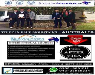 STUDY IN AUSTRALIA - AMAZING OFFER - PAY FEE AFTER VISA - LIMITED TIME OFFER - FOR DETAILS PLEASE CALL 0321-1010466/0300-9119933