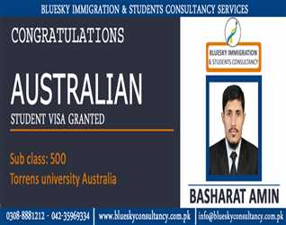STUDENT VISA GRANTED FOR STUDY IN AUSTRALIA-TORRENS UNIVERSITY- SUB CLASS 500
