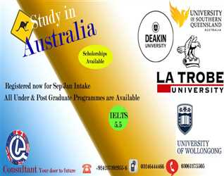 HUGE OPPORTUNITY FOR PAKISTANI  STUDY IN AUSTRALIA AND MAKE A PERFECT FUTURE.