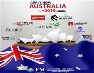 Apply now to get admission in #Australia #University and get #Australia study visa without any difficulty.FM Consultants. (Where Honesty Matters)