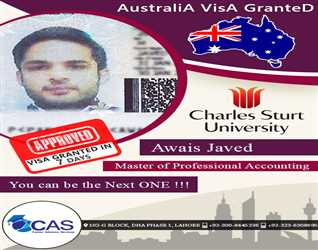ALHUMDULILLAH  Another Student AUSTRALIA VISA YOU CAN BE NEXT ONE FOR DETAILS CONTACT 0335-8323887, 0333-0130857, 0323-6308695