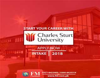 Apply now to get admission in #Charles #Sturt #University and get #Australia study visa without any difficulty.