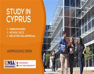 Study in Cyprus  Minimum Matric  Without IELTS Fee After Visa Approvil