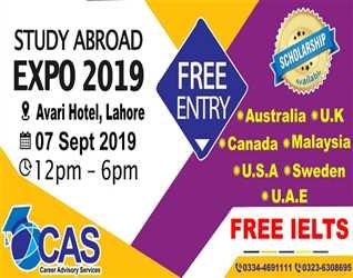 CAS- EXPO@ Avari Hotel, Lahore. Free IELTS- Free Entry