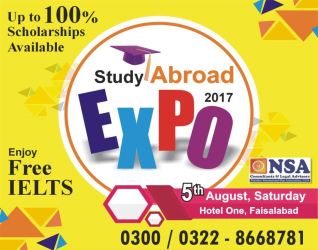 Study Abroad Expo 2017 in faisalabad