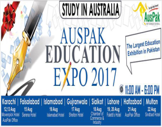 The Largest Education Exhibition in Multan by  AUSPAK EDUCATION EXPO-22 August-2017
