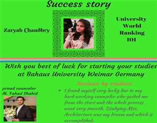 BMR consultants Visa Grant for Germany. Best time to apply for Masters and Phd. for Feb intake High Visa Ratio