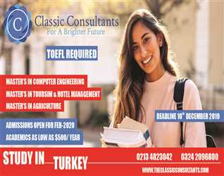 Study in STATE UNIVERSITIES of TURKEY