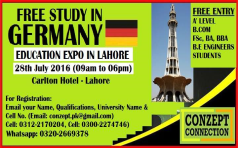 Education Expo in LAHORE for Free Study in Germany.