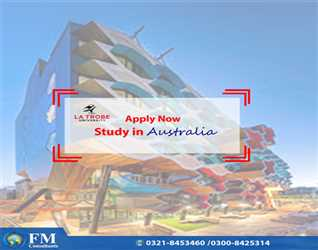 """Apply Now"""" Study in Australia University. Official Representative in Pakistan FM Consultants.Best Opportunity to get 50% scholarships"""