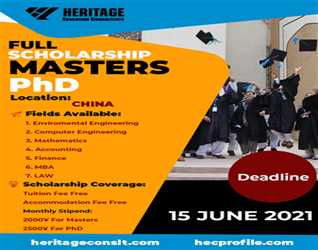 Apply for Masters & PhD Scholarships in China