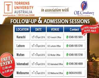 Admission Sessions for Australia:- Free Entry