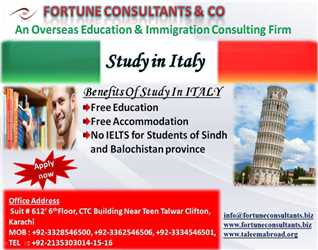 Study in Italy-   Free Education- Free Accomodation