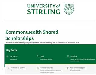 FULLY FUNDED SCHOLARSHIPS AND MORE …
