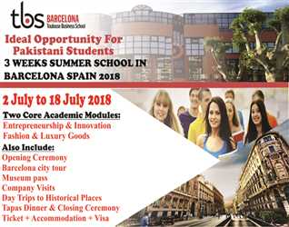 IDEAL Opportunity For Pakistani Students!! 3 Weeks Summer School In Barcelona Spain  2018!!