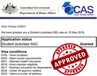 Another Success Story of CAS Pakistan  STUDENT VISA GRANTED TO AUSTRALIA FOR DETAILS: 0335-8323887, 0333-0130857, 0323-6308695